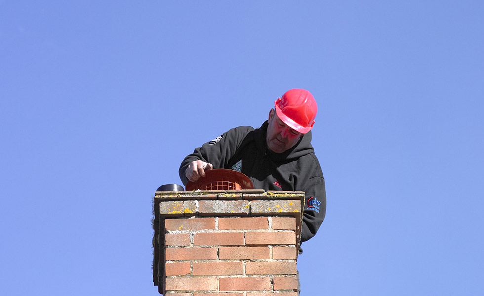 putting a cowl on the chimney to the range cooker