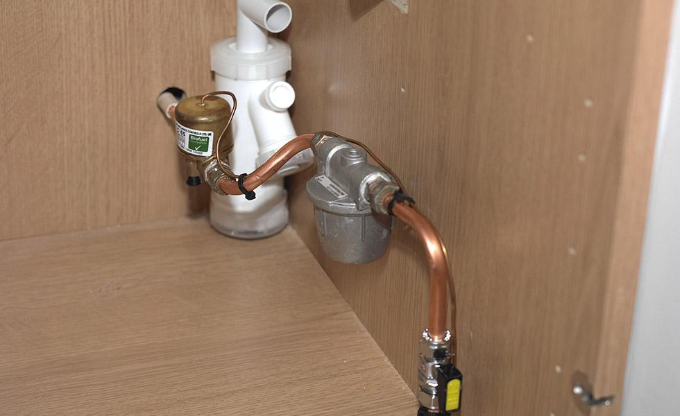 fire valve for the range cooker
