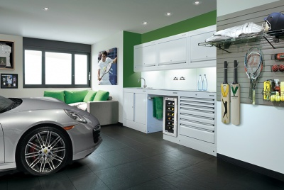 garage storage and car
