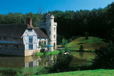 A self build moated manor house