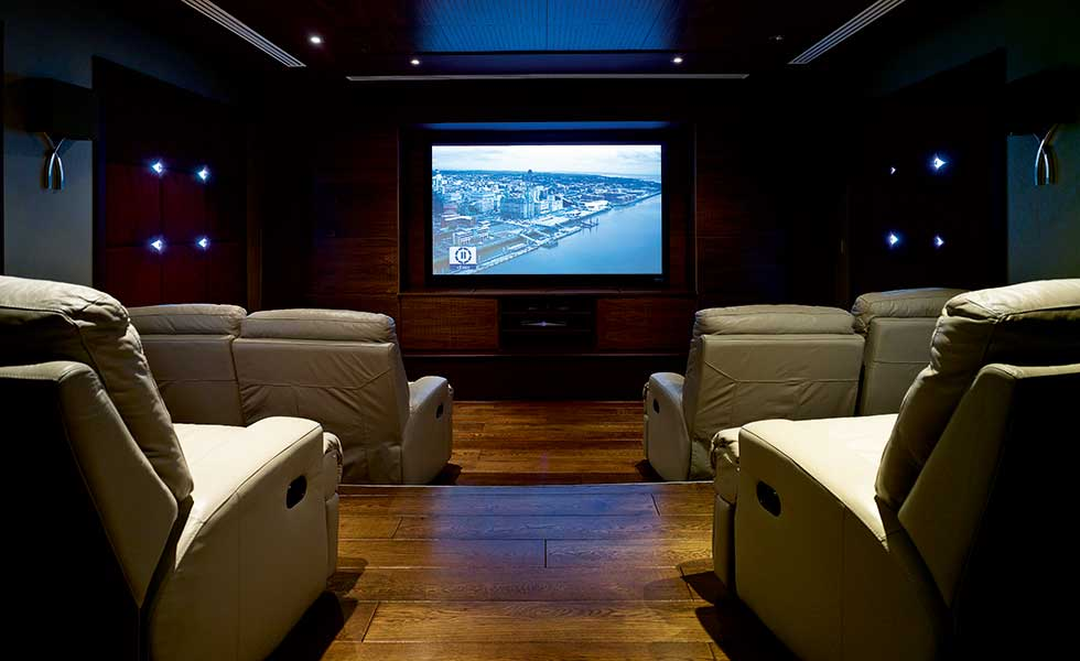 This home cinema offers an indulgent space to entertain with family and friends