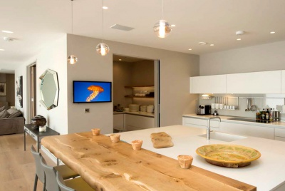 cedia open plan home technology kitchen