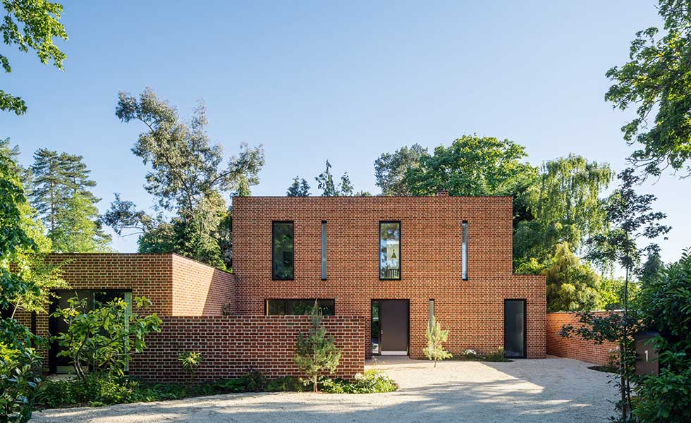 Red Brick Contemporary Home In Newbury