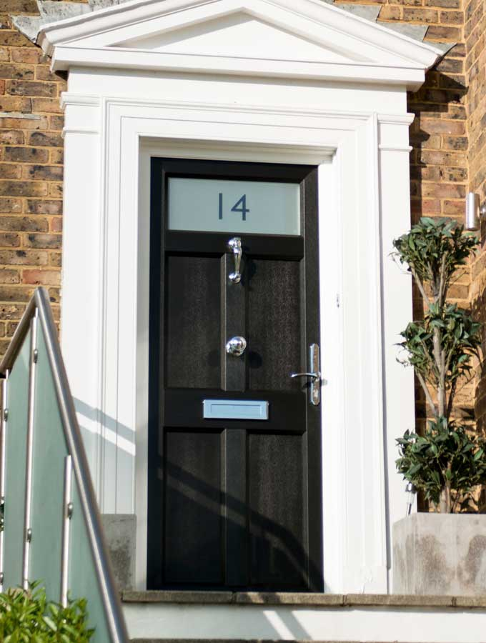 Composite stormproof door from British Door Company