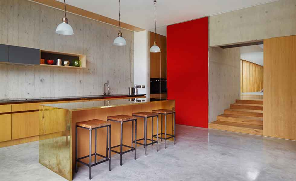 A Contemporary Concrete Kitchen