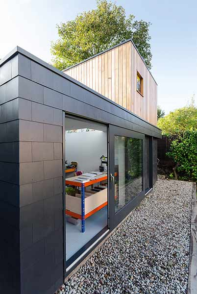 Slate fibre cement tiles cladding