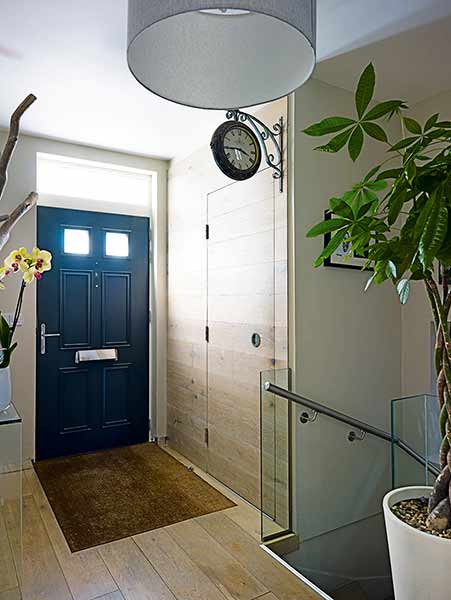 Discreet joinery entrance storage
