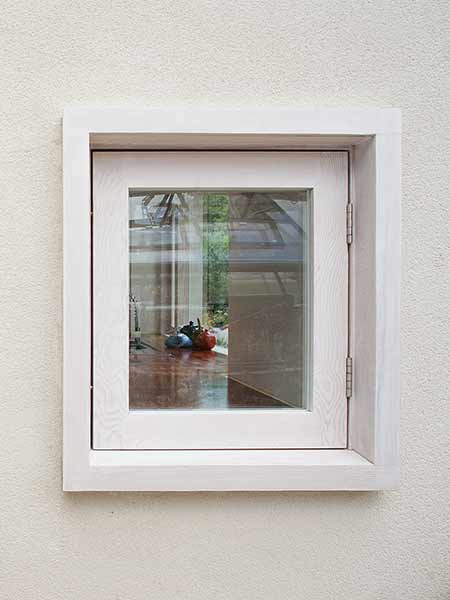 framed window white