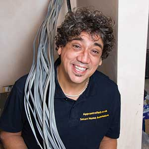 Darryl Bertie electrician with wires