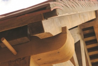 Timber frame wood apex