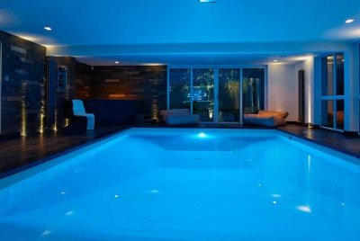Bespoke lighting in a pool room by Lumiere Solutions