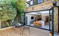 Architect designed Putney Wandsworth SW6 kitchen house extension – View from the garden