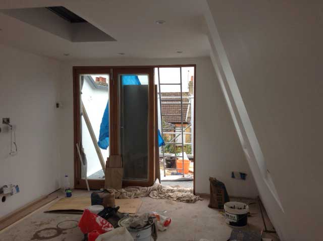 loft conversion doors to roof terrace