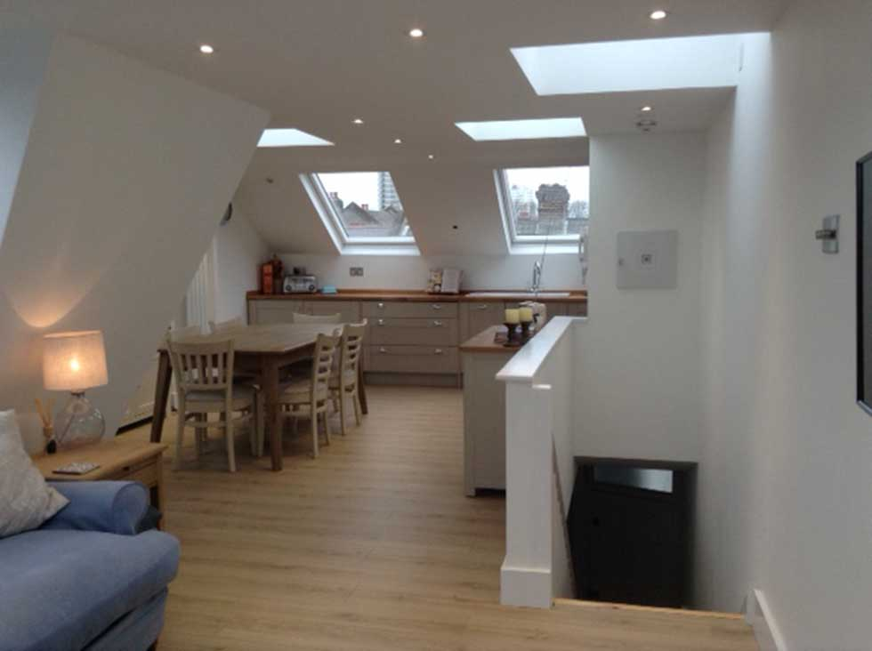 Mansard Loft Conversion Reverse Living Flat Tour
