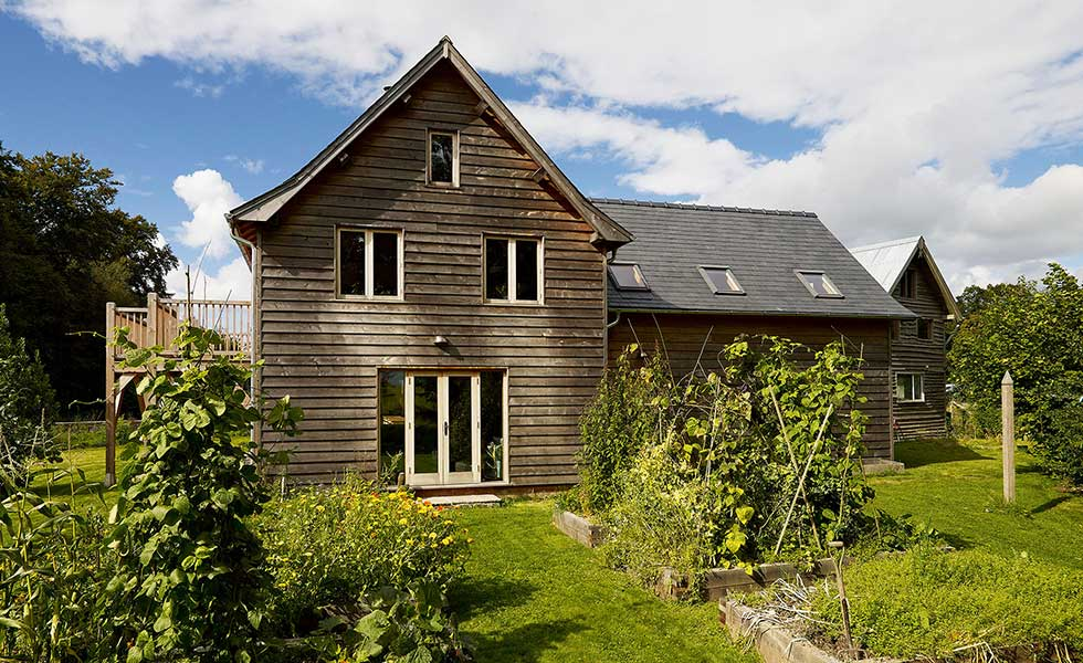 an oak frame home built on a DIY basis on a budget for less than £100,000