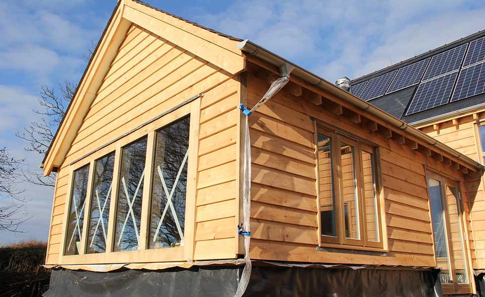 gable end oak frame home