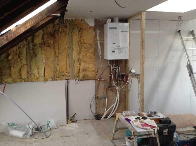 plaster boarding the loft to cover insulation