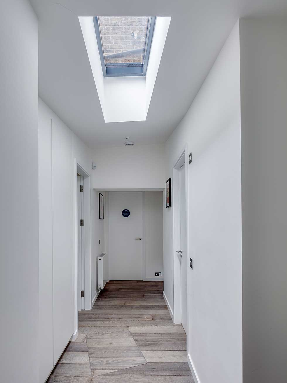 Hallway with rooflight