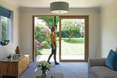 centor Integrated Sliding Door with built-in insect screen