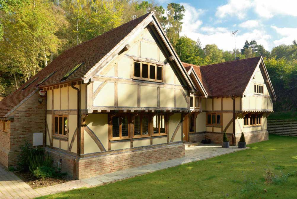 traditional Wealdon-barn style self build home