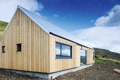 timber clad self build