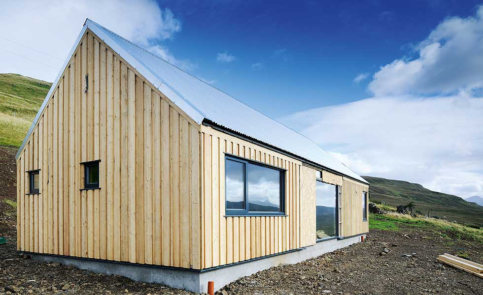 Cabin-style self build home