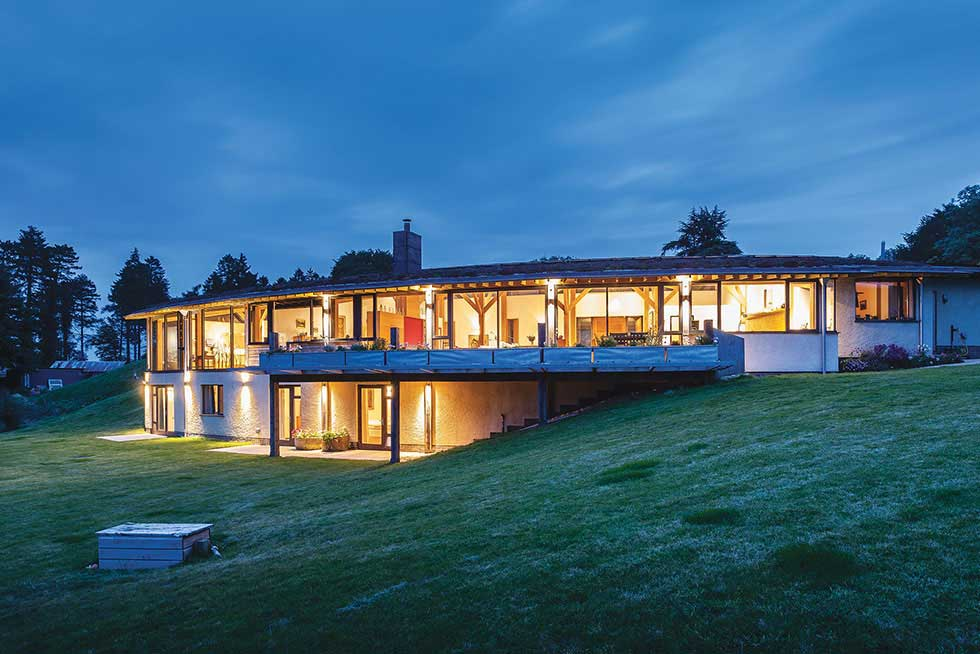 modern curved self build home