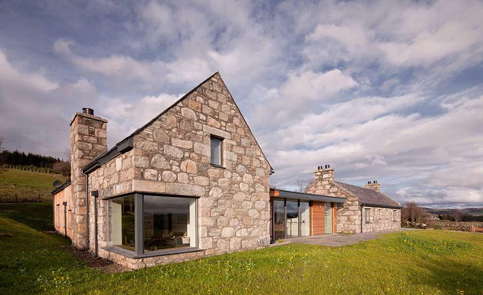 contemporary stone clad self build home