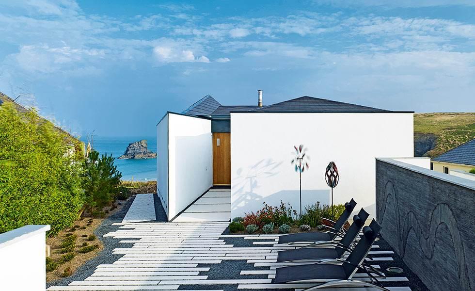 cliff top home contemporary exterior