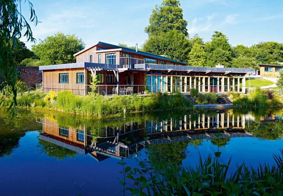 oak frame lake house