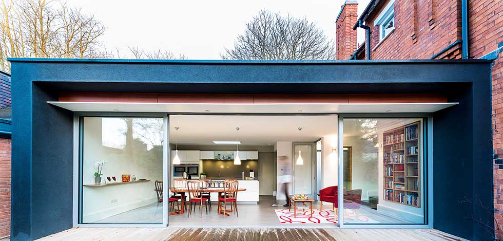 victorian villa modern extension for kitchen diner