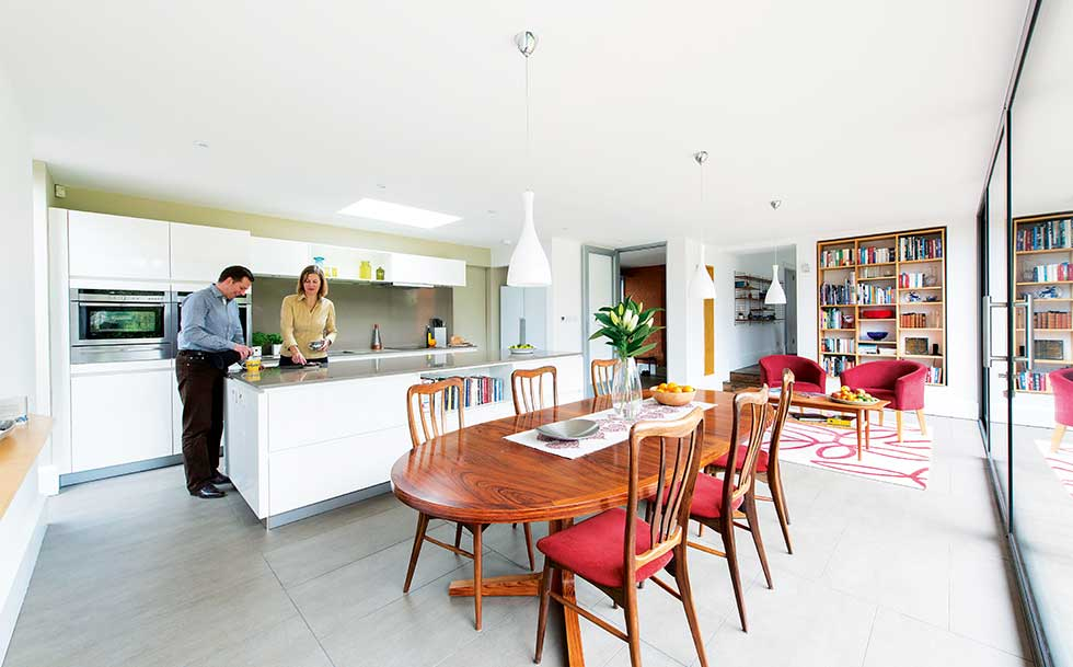 Victorian villa kitchen diner in extension