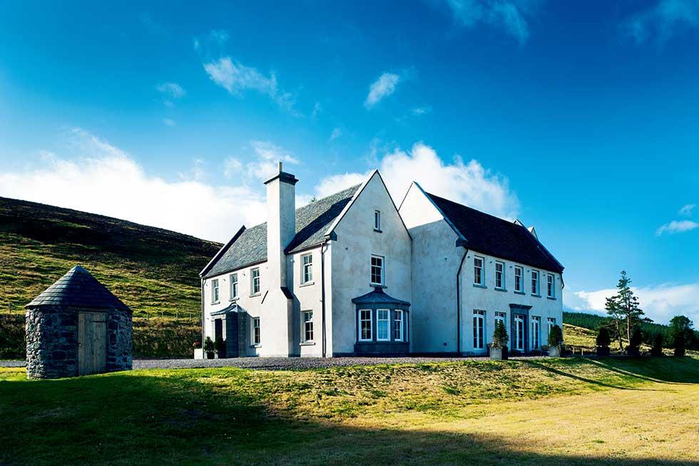 baronial style eco self build home