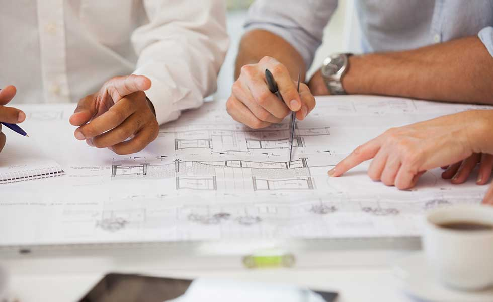 build costs plan on a table