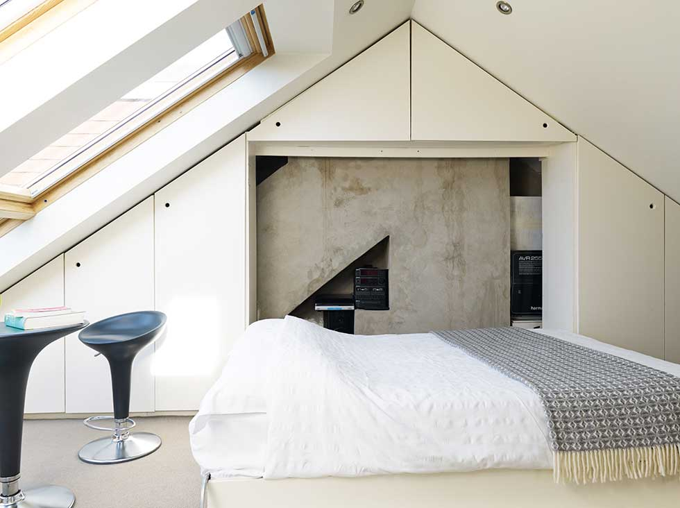 Home for life converted attic room to bedroom design