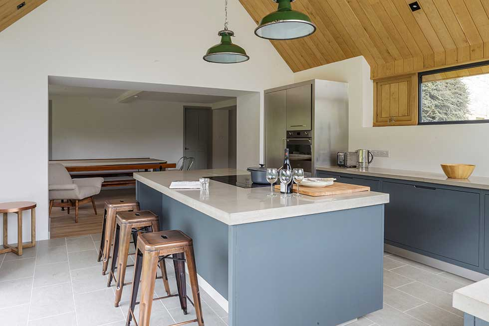 listed cottage extension contemporary kitchen