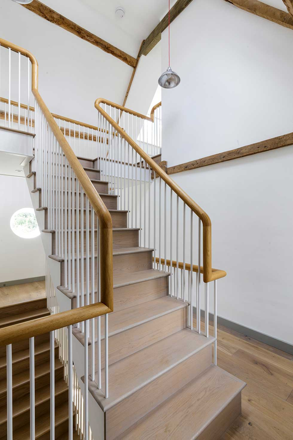 renovated listed cottage feature stair case