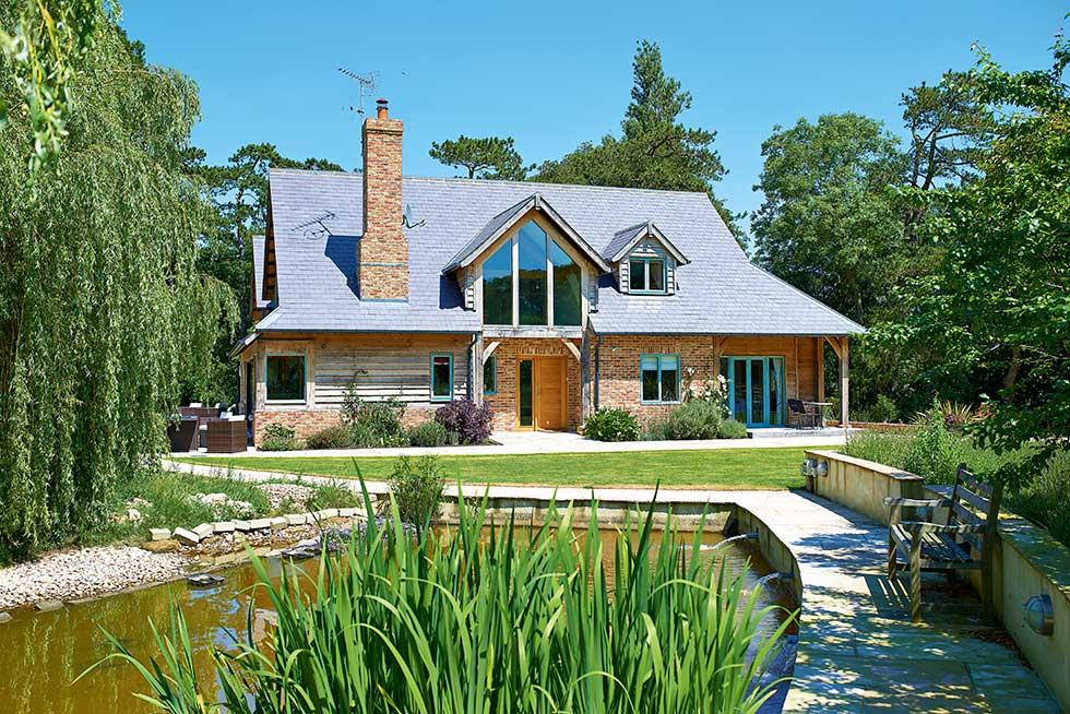 oak frame eco self build home