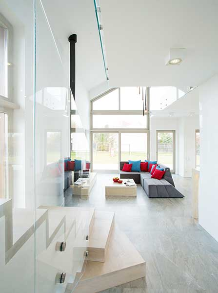 open plan echo hard floor contemporary home