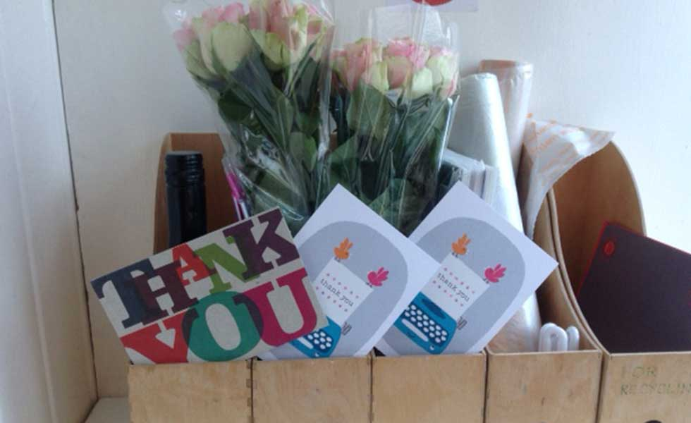 thank you cards gifts and flowers