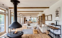 wooden floor throughout the whole lopen plan living area