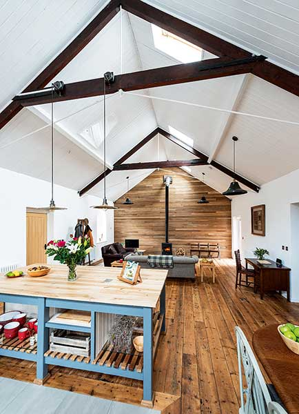Tin Chapel renovation open plan living