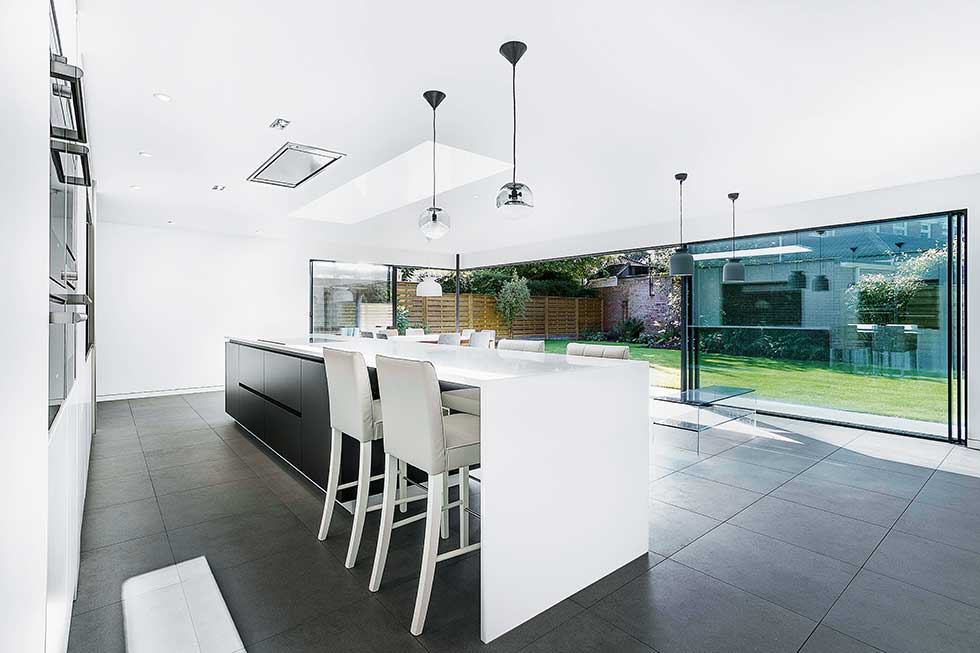 kitchen diner extension in modern home