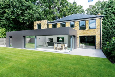 modern home with rear kitchen diner extension exterior