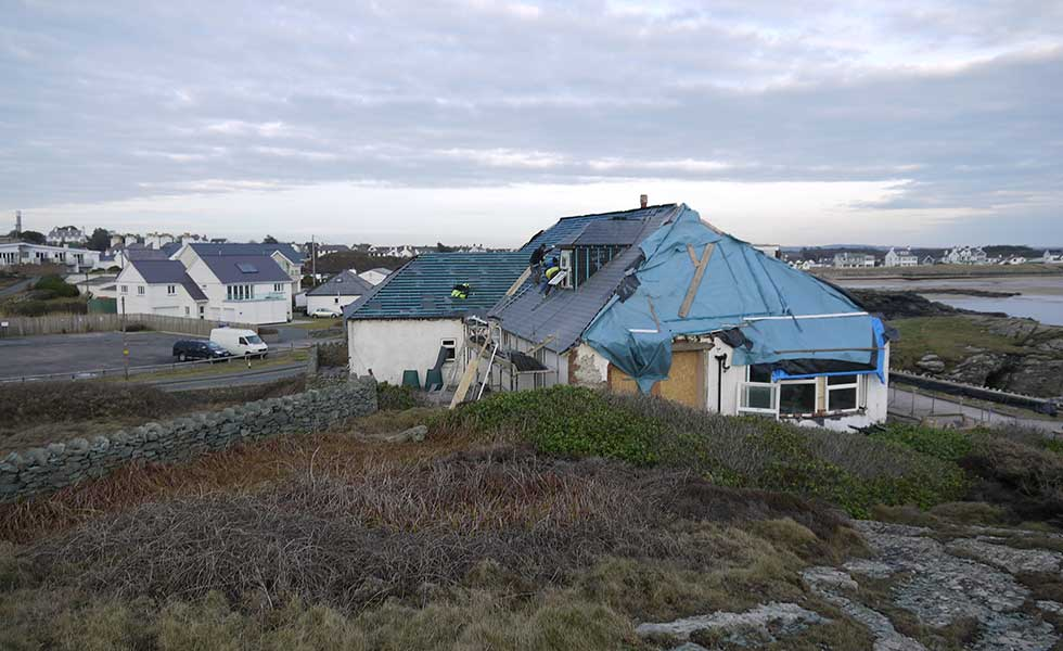 renovating a chalet style bungalow by the sea in Anglesey, Wales