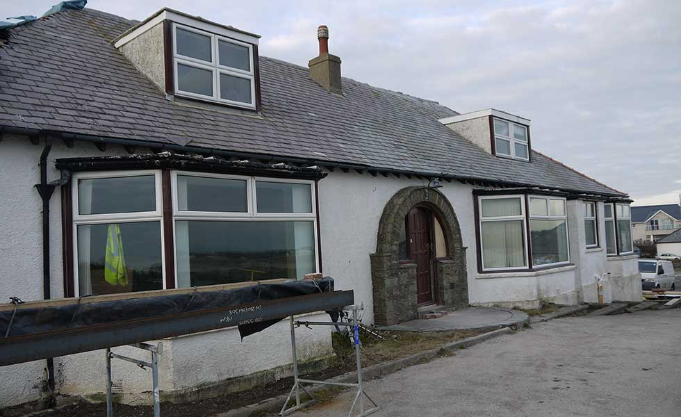 early 1900s chalet bungalow by the sea in Anglesey Wales