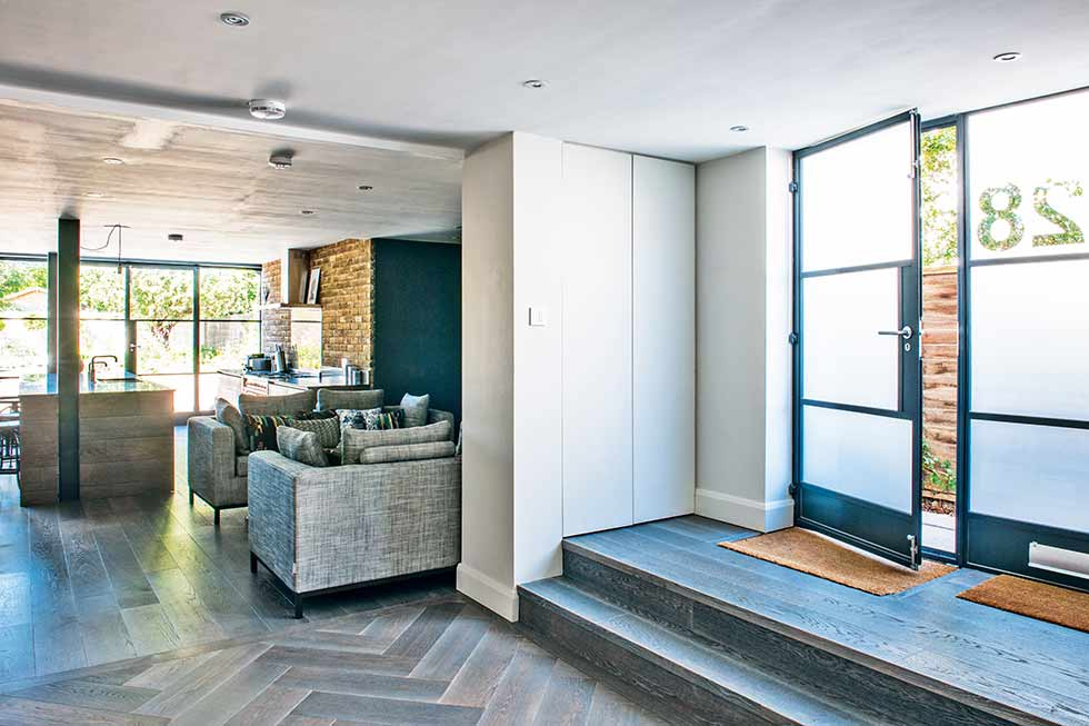 Self build entrance loft style
