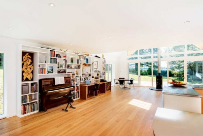 interior of a renovated 60s house