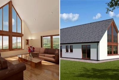 Full Height Glazed Gable from Cottage Kit Homes