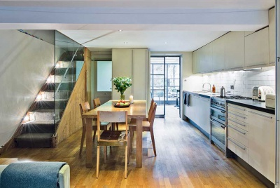 glazed london extension open plan kitchen diner